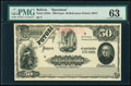 World Currency, Bolivia Banco Potosi 50 Bolivianos 1.1.1894 Pick S235s Specimen PMG Choice Uncirculated 63.. ...