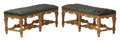 Furniture, A Pair of French Regence-Style Carved Gilt Wood Two-Seat Benches. 19-1/2 x 45 x 18 inches (49.5 x 114.3 x 45.7 cm) (each). ... (Total: 2 Items)