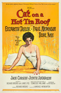 Movie Posters:Drama, Cat on a Hot Tin Roof (MGM, 1958). Fine+ on Linen....