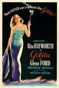 "Movie Posters:Film Noir, Gilda (Columbia, 1946). Very Fine+ on Linen. One Sheet (27.5"" X 41"") Style B. . ..."