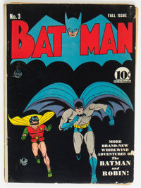 Batman #3 (DC, 1940) Condition: Qualified VG