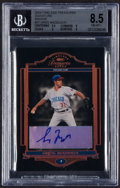Baseball Cards:Singles (1970-Now), 2004 Donruss Timeless Treasures Signature Bronze Greg Maddux #97 BGS NM-MT+ 8.5, Auto 10 - Serial Numbered 21/31....