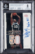 Basketball Cards:Singles (1980-Now), 2003-04 Exquisite Collection Exquisite Number Pieces Autograph David Robinson #P-DA BGS NM-MT 8, Auto 9 - Serial Numbered 45/5...