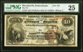 National Bank Notes:Pennsylvania, Phoenixville, PA - $10 1882 Brown Back Fr. 480 The National Bank of Phoenixville Ch. # 674 PMG Very Fine 25.. ...