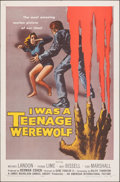 "Movie Posters:Horror, I Was a Teenage Werewolf (American International, 1957). Folded, Very Fine. One Sheet (27"" X 41"") Reynold Brown Artwork. Hor..."