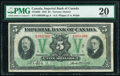 World Currency, Canada Toronto, ON- Imperial Bank of Canada $5 1.11.1933 Ch.# 375-20-02 PMG Very Fine 20.. ...