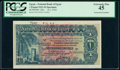 World Currency, Egypt National Bank of Egypt 1 Pound 16.1.1924 Pick 12bs Specimen PCGS Extremely Fine 45.. ...
