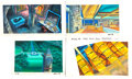 Animation Art:Painted cel background, G.I. Joe: A Real American Hero Color Key Paintings Group of 7 (Marvel/Sunbow, c. 1980s). ... (Total: 7 Original Art)
