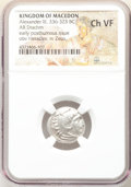 Ancients:Greek, Ancients: MACEDONIAN KINGDOM. Alexander III the Great (336-323 BC). AR drachm (18mm, 9h). NGC Choice VF. ...