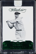 Baseball Cards:Singles (1970-Now), 2017 Panini Flawless Emerald Lou Gehrig #79 - Serial Numbered 4/5.... (Total: 2 items)