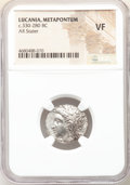 Ancients:Greek, Ancients: LUCANIA. Metapontum. Ca. 330-280 BC. AR stater (20mm, 1h). NGC VF. ...