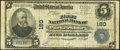National Bank Notes:West Virginia, Parkersburg, WV - $5 1902 Plain Back Fr. 598 The First National Bank Ch. # 180 Very Good.. ...
