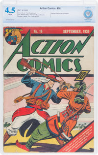 Action Comics #16 (DC, 1939) CBCS VG+ 4.5 White pages