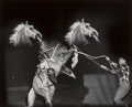 Photographs, Weegee (American, 1899-1968). Rearing Horse and Handler, circa 1950. Gelatin silver. 9-7/8 x 8 inches (25.1 x 20.3 cm). ...