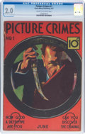 Platinum Age (1897-1937):Miscellaneous, Picture Crimes #1 (David McKay Publications, 1937) CGC GD 2.0 Cream to off-white pages....