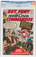 Silver Age (1956-1969):War, Sgt. Fury and His Howling Commandos #1 (Marvel, 1963) CGC FN+ 6.5 Off-white to white pages....