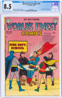 World's Finest Comics #59 (DC, 1952) CGC VF+ 8.5 Off-white to white pages