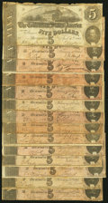 Confederate Notes:1863 Issues, T60 $5 1863 Very Good;. T69 $5 1864 Thirteen Examples Very Good or Better.. ... (Total: 14 notes)