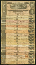 Confederate Notes:1864 Issues, T68 $10 1864 Nineteen Examples Very Good or Better.. ... (Total: 19 notes)