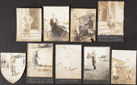 1900s Detroit Tigers Photograph Lot from Matty McIntyre's Scrapbook, Lot of 9