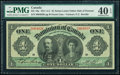 Canada Dominion of Canada $1 3.1.1911 Pick 27a DC-18a PMG Extremely Fine 40 EPQ
