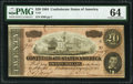 Confederate Notes:1864 Issues, T67 $20 1864 PF-13 Cr. 513 PMG Choice Uncirculated 64.. ...