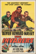 "Movie Posters:War, The Invaders (Columbia, 1941). Folded, Very Fine-. One Sheet (27"" X 41"") Style B. War.. ..."