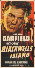 "Movie Posters:Crime, Blackwell's Island (Warner Bros., 1939). Folded, Very Good/Fine. Three Sheet (41"" X 79""). Crime.. ..."