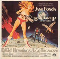 "Barbarella (Paramount, 1968). Folded, Fine+. Six Sheet (80"" X 79"") Robert McGinnis Artwork. Science Fiction..."