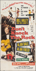 "Movie Posters:Rock and Roll, Don't Knock the Rock (Columbia, 1957). Folded, Fine-. Three Sheet (41"" X 78.75""). Rock and Roll.. ..."