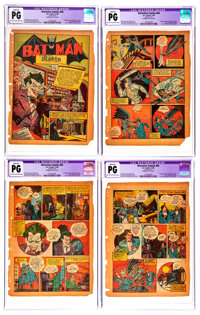 Detective Comics #45 CGC-Graded Pages 1-7 Only Group (DC, 1940).... (Total: 7 Items)