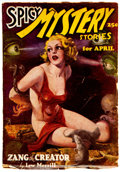 Pulps:Horror, Spicy Mystery Stories - April 1936 (Culture) Condition: VG....