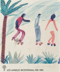 After David Hockney Los Angeles Bicentennial, poster, 1981 Offset lithograph in colors on paper