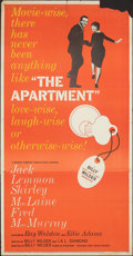 "Movie Posters:Academy Award Winners, The Apartment (United Artists, 1960). Folded, Very Good/Fine. Three Sheet (41"" X 79). Academy Award Winners.. ..."