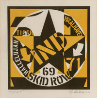 Robert Indiana (1928-2018) Skid Row, 1969 Lithograph in colors on wove paper 10-5/8 x 10-1/2 inch