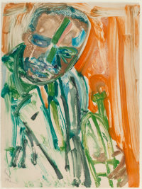 Romare Howard Bearden (1911-1988) Louis, mid 20th century Monotype in colors on paper 30 x 22-1/4