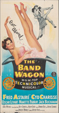 Movie Posters:Musical, The Band Wagon (MGM, 1953). Folded, Fine. Three Sh...
