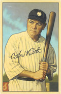 """Baseball Collectibles:Others, 2020 Babe Ruth 1952 Bowman """"Card That Never Was"""" Original Artwork by Arthur Miller. ..."""