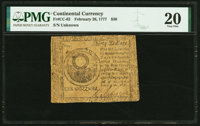Continental Currency February 26, 1777 $30 PMG Very Fine 20
