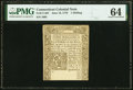 Colonial Notes:Connecticut, Connecticut June 19, 1776 1s PMG Choice Uncirculated 64.. ...