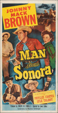 "Movie Posters:Western, Man from Sonora (Monogram, 1951). Folded, Fine/Very Fine. Three Sheet (41"" X 80""). Western.. ..."