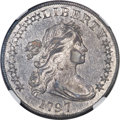Early Dollars, 1797 $1 10x6 Stars, Large Letters, B-3, BB-71, R.2, AU53 NGC....