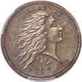 Large Cents, 1793 1C Wreath, Lettered Edge, S-11c, B-16c, Low R.3, AU58 PCGS....