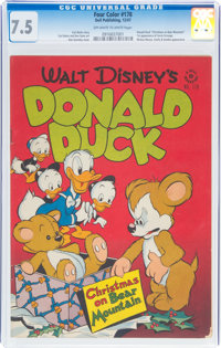 Four Color #178 Donald Duck (Dell, 1947) CGC VF- 7.5 Off-white to white pages