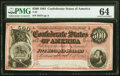 Confederate Notes:1864 Issues, T64 $500 1864 PF-3 Cr. 489B PMG Choice Uncirculated 64.. ...