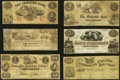 A Half Dozen Well Circulated Obsolete Notes from the State of Maine. Very Good or Better