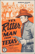 """Movie Posters:Western, Man from Texas (Monogram, 1939). Fine+ on Linen. One Sheet (27"""" X 41.5""""). Western.. ..."""