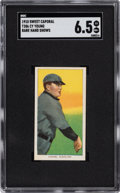 Baseball Cards:Singles (Pre-1930), 1909-11 T206 Sweet Caporal 350/30 Cy Young (Bare Hand Shows) SGC EX-MT+ 6.5. ...