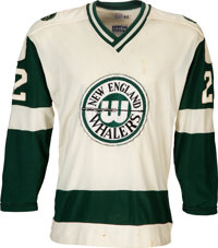1972-73 New England Whalers Game Issued WHA Jersey - 1st Year Style!