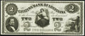 Obsoletes By State:Louisiana, New Orleans, LA- Citizens' Bank of Louisiana $2 18__ Remainder Choice About Uncirculated.. ...